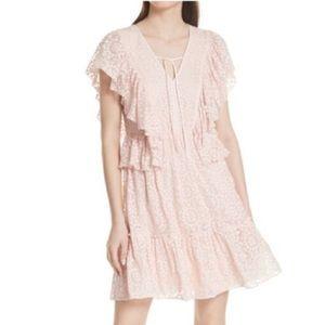 Kate Spade | NWT pink embroidered chiffon dress